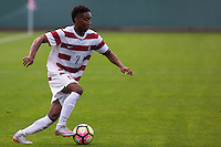 STANFORD, CA- October 16, 2016: Stanford Men's Soccer vs. UCLA, the Cardinals beat the Bruins 3-0.