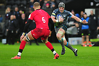 Dan Lydiate of Ospreys in action during the Heineken Champions Cup Round 5 match between the Ospreys and Saracens at the Liberty Stadium in Swansea, Wales, UK. Saturday January 11 2020.
