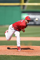 Clearwater Threshers pitcher Colton Murray (45) during a game against the Tampa Yankees on April 9, 2014 at Bright House Field in Clearwater, Florida.  Tampa defeated Clearwater 5-3.  (Mike Janes/Four Seam Images)