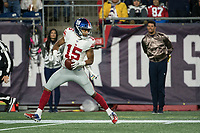 FOXBORO, MA - OCTOBER 10: New York Giants Wide Receiver Golden Tate (15) touchdown during a game between New York Giants and New England Patriots at Gillettes on October 10, 2019 in Foxboro, Massachusetts.
