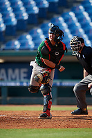 Gio Cueto (2) of Belen Jesuit Preparatory School in Miami, FL during the Perfect Game National Showcase at Hoover Metropolitan Stadium on June 20, 2020 in Hoover, Alabama. (Mike Janes/Four Seam Images)