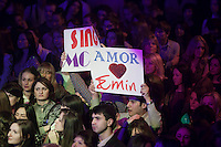 "Moscow, Russia, 07/03/2011..Fans of Azerbaijani rock singer Emin Agalarov at a concert at the Rai nightclub. Agalarov has released 5 albums, and his first UK album ""Memory"" is due for release. He is also the commercial director of the Crocus International company, founded by his father Aras, and married to Leila Alieva, daugher of Azerbaijan President Ilkham Aliev."