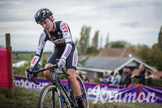 Annemarie Worst (NED/Steylaert - 777).<br /> <br /> women's race.<br /> Koppenbergcross Belgium 2018