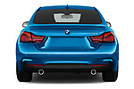 Straight rear view of a 2018 BMW 4 Series Gran Coupe 440i M Sport 5 Door Hatchback stock images