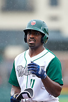 Fort Wayne TinCaps Dwanya Williams-Sutton (11) during a Midwest League game against the Kane County Cougars at Parkview Field on May 1, 2019 in Fort Wayne, Indiana. Fort Wayne defeated Kane County 10-4. (Zachary Lucy/Four Seam Images)