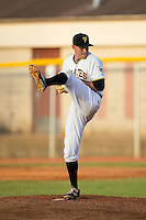 Bristol Pirates relief pitcher Tanner Anderson (16) in action against the Burlington Royals at Boyce Cox Field on July 10, 2015 in Bristol, Virginia.  The Pirates defeated the Royals 9-4. (Brian Westerholt/Four Seam Images)