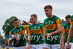 Paudie Clifford, Kerry, Stephen O'Brien, Kerry, Adrian Spillane, Kerry, after the Allianz Football League Division 1 Semi-Final, between Tyrone and Kerry at Fitzgerald Stadium, Killarney, on Saturday.
