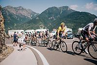 Geraint Thomas (GBR/SKY) up the final climb of the day (in Spain!): the Col du Portillon (Cat1/1292m)<br /> <br /> Stage 16: Carcassonne > Bagnères-de-Luchon (218km)<br /> <br /> 105th Tour de France 2018<br /> ©kramon
