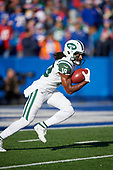 New York Jets Andre Roberts (19) returns a kickoff during an NFL football game against the Buffalo Bills, Sunday, December 9, 2018, in Orchard Park, N.Y.  (Mike Janes Photography)