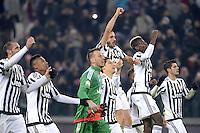 Esultanza finale giocatori Juventus, celebration,<br /> Torino 16-12-2015, Juventus Stadium, Football Calcio 2015/2016 Coppa Italia, derby, Juventus - Torino, Foto Filippo Alfero/Insidefoto