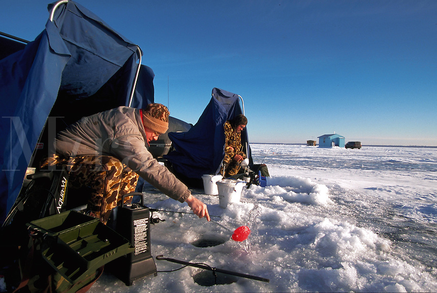 Ice Fishing on Lake Mille Lacs, Minnesota