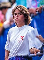 August 30, 1991, New York, USA, US Open, Flushing Medows,  Noelle van Lottum (NED)<br /> Photo: Tennisimages.com/Henk Koster