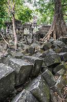 Cambodia, Beng Mealea Sanctuary in Ruins, 12th. Century.