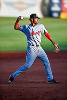 Gabriel Ovalle (17) of the Billings Mustangs between innings during the game against the Orem Owlz in Pioneer League action at Home of the Owlz on July 25, 2016 in Orem, Utah. Orem defeated Billings 6-5. (Stephen Smith/Four Seam Images)
