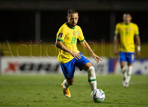 13th November 2020; Morumbi Stadium, Sao Paulo, Sao Paulo, Brazil; World Cup 2022 qualifiers; Brazil versus Venezuela;  Éverton Ribeiro of Brazil