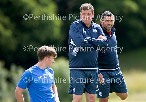 St Johnstone Training…29.07.16<br />Manager Tommy Wright and assistant manager Callum Davidson pictured during training this morning at McDiarmid Park<br />Picture by Graeme Hart.<br />Copyright Perthshire Picture Agency<br />Tel: 01738 623350  Mobile: 07990 594431