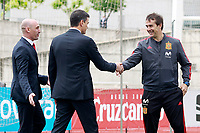 The President of the Government of Spain Pedro Sanchez, the coach Julen Lopetegui (r) and the RFEF's President Luis Rubiales during the visit to the national soccer team training session. June 5,2018.(ALTERPHOTOS/Acero) /NortePhoto.com NORTEPHOTOMEXICO