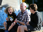 Mark Grigory and his sons Carson, 4, and Camron, 14, enjoy the Desert Rhythm Project concert at the Carson City Off-Road, Nev., on Saturday, June 16, 2018. <br /> Photo by Cathleen Allison/Nevada Momentum