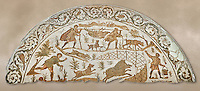 4th century Roman mosaic panel of a boar hunt from Cathage, Tunisia. The Bardo Museum, Tunis, Tunisia.