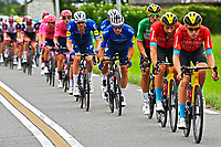 15th July 2021; Luz Ardiden, Hautes-Pyrénées department, France;  BAHRAIN VICTORIOUS head of peloton during stage 18 of the 108th edition of the 2021 Tour de France cycling race, a stage of 129,7 kms between Pau and Luz Ardiden.
