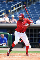 Clearwater Threshers first baseman Art Charles (24) during a game against the Dunedin Blue Jays on April 6, 2014 at Bright House Field in Clearwater, Florida.  Dunedin defeated Clearwater 5-2.  (Mike Janes/Four Seam Images)