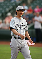 2007:  Kei Igawa of the Scranton Wilkes-Barre Yankees, Class-AAA affiliate of the New York Yankees, during the International League baseball season.  Photo by Mike Janes/Four Seam Images