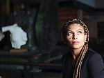 Ensaf Haidar, Ehefrau von (Raif Badawi), Saudi arabischer Blogger, Menschenrechtlerin, Deutschland, Hamburg, 2015<br /> <br /> Engl.: Ensaf Haidar, wife of Saudi blogger Raif Badawi, Saudi Arabian human rights activist, portrait in Hamburg, Germany, Europe, September 29, 2015