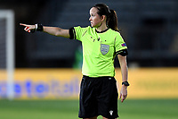 Referee Rebecca Welch reacts during the Women s EURO 2022 qualifying football match between Italy and Denmark at stadio Carlo Castellani in Empoli (Italy), October, 27th, 2020. Photo Andrea Staccioli / Insidefoto