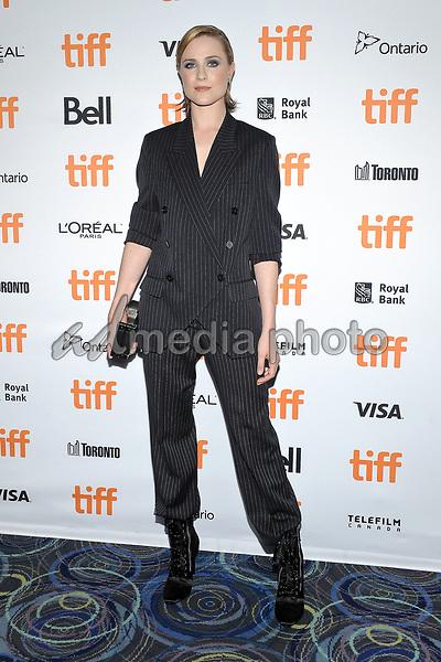 "10 September 2017 - Toronto, Ontario Canada - Evan Rachel Wood. 2017 Toronto International Film Festival - ""A Worthy Companion"" Premiere held at Scotiabank Theatre. Photo Credit: Brent Perniac/AdMedia"