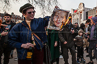 08.04.2013 - Margaret Thatcher's Death - Windrush Square, Brixton