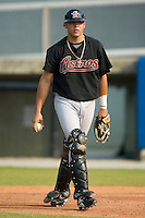 Greeneville Astros catcher Ralph Henriquez during infield practice prior to taking on the Danville Braves at American Legion Field in Danville, VA, Saturday, July 1, 2006.