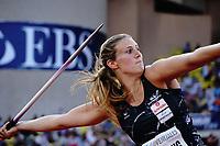 9th July 2021, Monaco, France; Diamond League Athletics, Herculis meeting, Monaco;  Christin Hussong (Ger) womens javelin