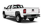 Car pictures of rear three quarter view of a 2018 GMC Sierra 3500HD Double 4WD Cab Long Box 4 Door Pick Up angular rear