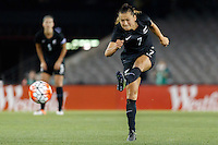 June 7, 2016: ALI RILEY (7) of New Zealand kicks the ball during an international friendly match between the Australian Matildas and the New Zealand Football Ferns as part of the teams' preparation for the Rio Olympic Games at Etihad Stadium, Melbourne. Photo Sydney Low