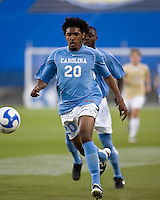 North Carolina defender Sheanon Williams (20) chases the ball.  North Carolina Tar Heels defeated Wake Forest Demon Deacons 1-0 in the semifinal match of the NCAA Men's College Cup at Pizza Hut Park in Frisco, TX on December 12, 2008.  Photo by Wendy Larsen/isiphotos.com
