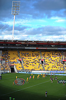 A general view of Westpac Stadium in the afternoon sunshine during the Super Rugby match between the Hurricanes and Southern Kings at Westpac Stadium, Wellington, New Zealand on Saturday, 30 March 2013. Photo: Dave Lintott / lintottphoto.co.nz