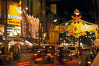 Street scene in Chaing Mai's Night Bazaar, Northern Thailand