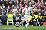 Lucas Vazquez of Real Madrid  runs with the ball during the match Real Madrid vs RCD Espanyol, a La Liga match at the Santiago Bernabeu Stadium on 18 February 2017 in Madrid, Spain. Photo by Diego Gonzalez Souto / Power Sport Images