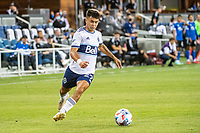 SAN JOSE, CA - AUGUST 13: Ryan Gauld #25 of the Vancouver Whitecaps dribbles the ball during a game between San Jose Earthquakes and Vancouver Whitecaps at PayPal Park on August 13, 2021 in San Jose, California.