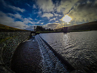 The Beacons Reservoir next to the A470 near the Storey Arms, Powys, Wales, UK. Thursday 19 November 2020