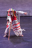 "Old Man with a Cane, Performance of ""Mexico Espectacular"", Xcaret, Playa del Carmen, Riviera Maya, Yucatan, Mexico."