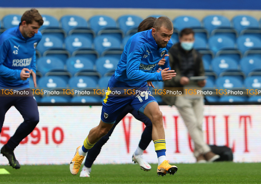Shane McLoughlin of AFC Wimbledon warming up during AFC Wimbledon vs Shrewsbury Town, Sky Bet EFL League 1 Football at The Kiyan Prince Foundation Stadium on 17th October 2020
