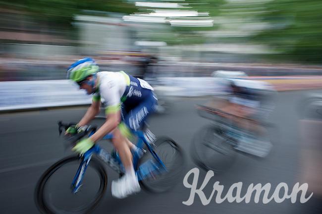 race leaders Iljo Keisse (BEL/Etixx-QuickStep) & Luke Durbridge (AUS/Orica-GreenEDGE) speeding along<br /> <br /> Giro d'Italia 2015<br /> final stage 21: Torino - Milano (178km)