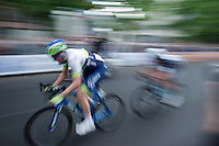 race leaders Iljo Keisse (BEL/Etixx-QuickStep) & Luke Durbridge (AUS/Orica-GreenEDGE) speeding along<br /> <br /> Giro d'Italia 2015<br /> final stage 21: Torino - Milano (178km)