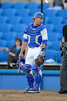 Dunedin Blue Jays catcher Derrick Chung #1 during a game against the Tampa Yankees on April 11, 2013 at Florida Auto Exchange Stadium in Dunedin, Florida.  Dunedin defeated Tampa 3-2 in 11 innings.  (Mike Janes/Four Seam Images)