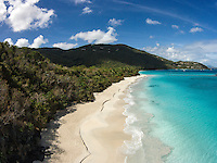 Aerial view of Cinnamon Bay<br /> Virgin Islands National Park<br /> St. John<br /> U.S. Virgin Islands
