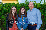 Lilly Brosnan from Holy Family NS receiving her Confirmation in St Brendan's Church on Tuesday with her dad Aidan and sister Shauna Brosnan