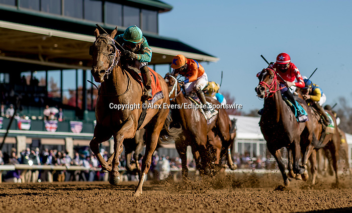 November 7, 2020 : Whitmore, ridden by Irad Ortiz, Jr., wins the Breeders' Cup Sprint on Breeders' Cup Championship Saturday at Keeneland Race Course in Lexington, Kentucky on November 7, 2020. Alex Evers/Eclipse Sportswire/Breeders Cup/CSM