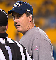Pitt head coach Paul Chryst. The Pitt Panthers defeated the Old Dominion Monarchs 35-24 at Heinz Field, Pittsburgh, Pennsylvania on October 19, 2013.