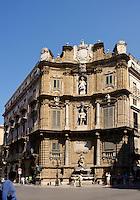 Platz Quattro Canti in Palermo, Sizilien, Italien